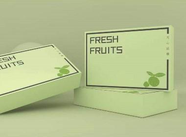 水果通用包装盒、简约风格、清新风格、橙子、苹果礼盒