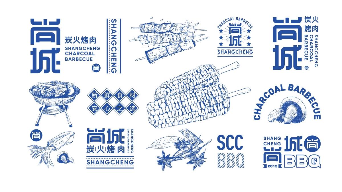 尚城烤肉-品牌设计