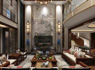 贵阳中航城别墅设计作品|贵阳复式房子装修