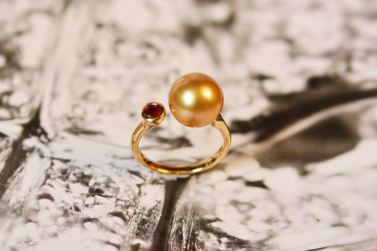 金珠来了|细节至上珍珠戒指