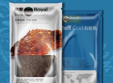 皇家领海海鲜产品系列包装设计