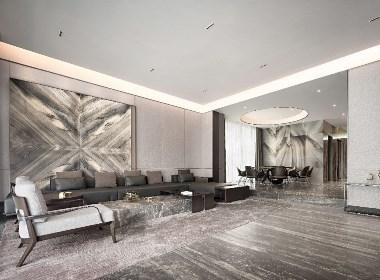 莫兰迪色演绎现代奢华空间--欧模设计圈