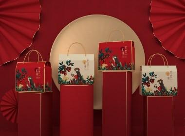 青柚原创 X 若羌红枣 红枣通用礼盒 年礼包装设计丨秋来红枣压枝繁 正是橘黄枣红时