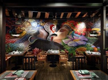 川味餐厅设计·餐厅设计·餐饮空间设计:炭舍,一家川味风情餐厅