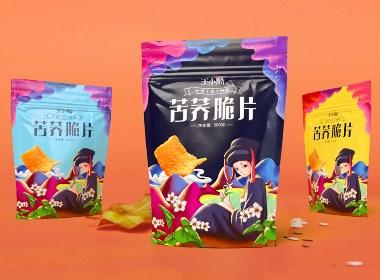 黑苦荞麦脆片 · 包装&插画 · Vegetar Chan——陈炳嘉包装设计