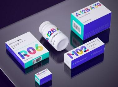 色彩鮮明與藝術性共存的醫藥品包裝設計案