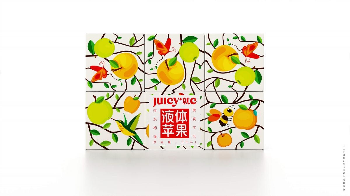 高鹏设计——浓缩苹果清汁饮料包装设计