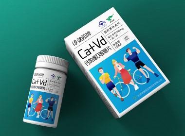 绿健园保健食品包装设计案例-圣智扬