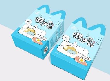 蓝猫飞翔宠物食品包装设计