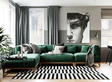 石家庄79平米现代风格两居室公寓设计-刘贺东作品