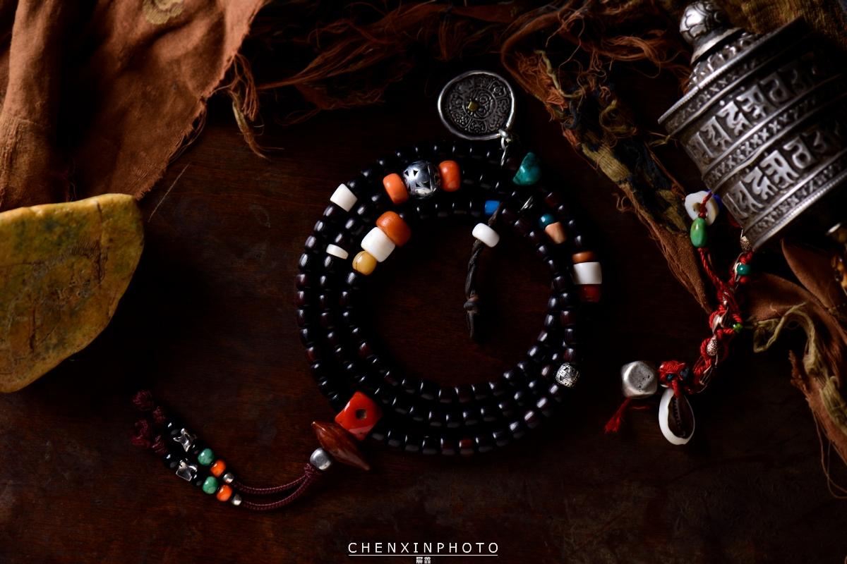 藏传佛教艺术收藏品佛珠手链电商产品拍卖图录宣传册海报拍摄