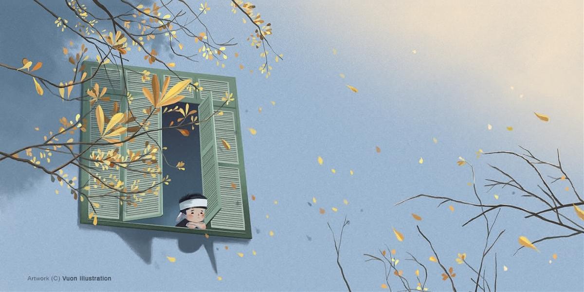 故事插画 《光掠过沉寂的窗口》插画作品分享与交流