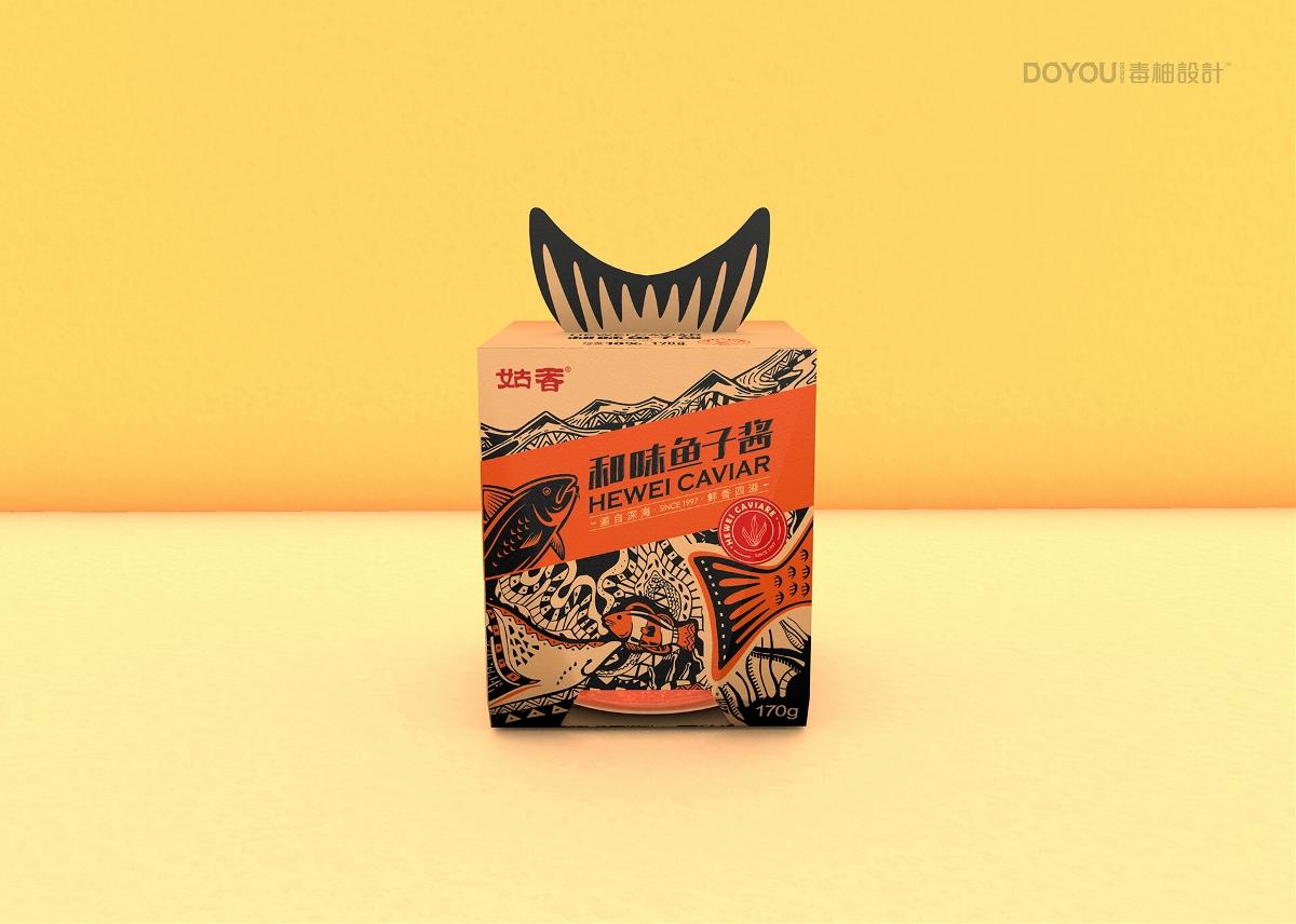 姑香鱼子酱包装设计、蛋黄酱包装设计by-毒柚