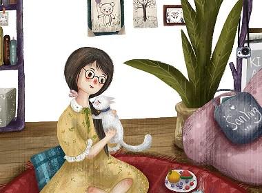 宅女撸猫日常