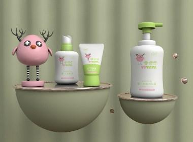 母婴洗护品牌/婴幼儿用品视觉形象——咿呀呀YIYAYA