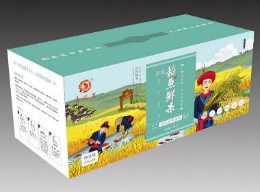 农产品副食品大米包装策划设计