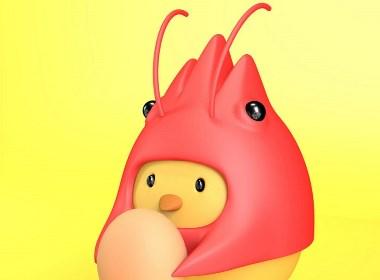 虾青素鸡蛋品牌形象设计