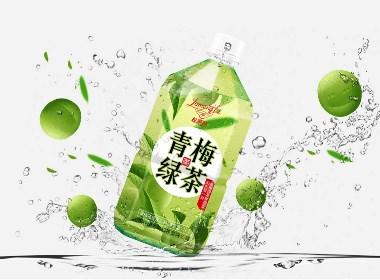 青梅綠茶飲料包裝設計