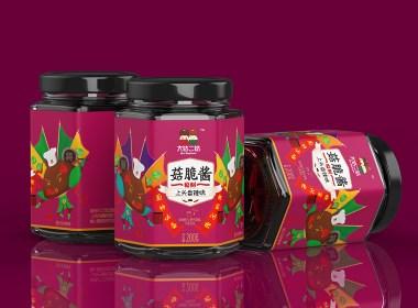 香菇醬包裝設計_調味料包裝【黑馬奔騰創意出品】