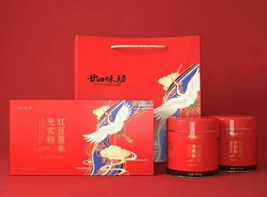 紅豆薏米粉 固體飲料 沖劑 包裝設計 | 原創作品
