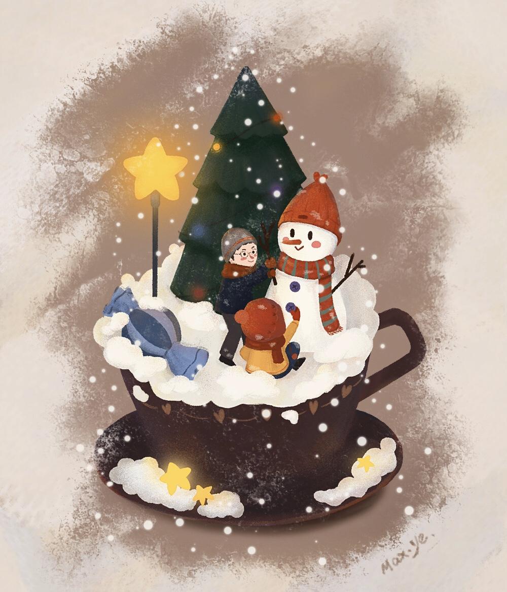 【圣诞插画】请注意查收您的圣诞礼物