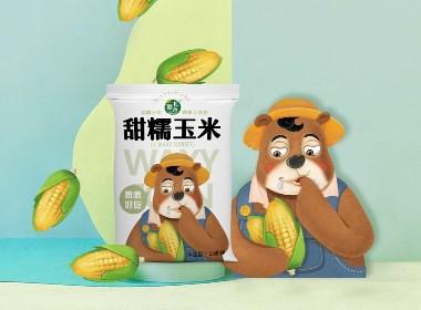 新北香玉米×尚智 | 食品/快消品包裝設計/品牌設計/插畫