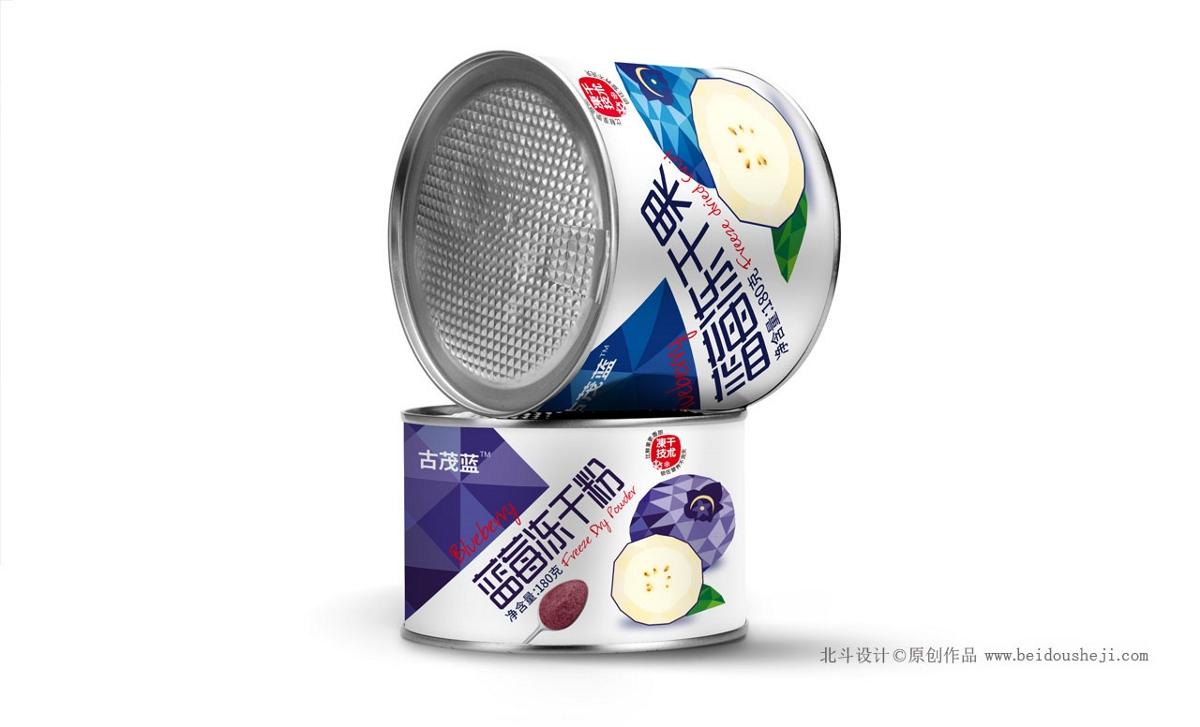 古茂蓝梅冻干果品牌包装设计案例分享