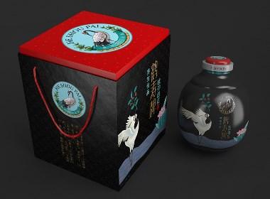 鶴壽牌杜仲酒杜仲茶—徐桂亮品牌設計