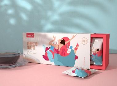 代用茶 桂圆红枣枸杞茶包装设计 · 24味坊 | 原创作品