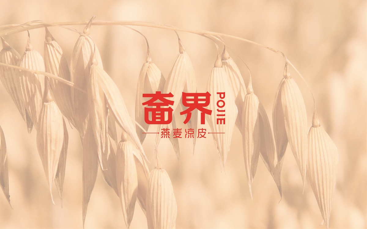 奤界-燕麦凉皮 瑞智博诚品牌策划设计