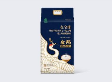 大米包装设计-金鹤大米-四喜包装设计