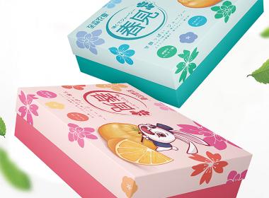 善行研創一至森農業春見柑橘IP插畫包裝設計(二)