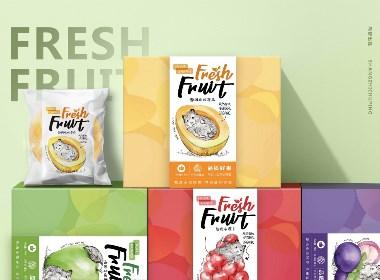 《甄选水果》食品包装设计/品牌设计/插画设计