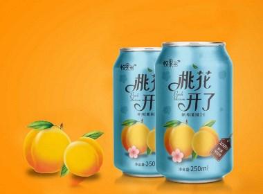 桃汁包裝設計