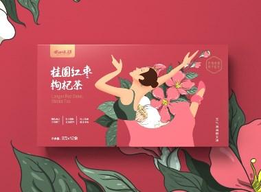 花草茶 桂圓紅棗枸杞茶 新款 · 24味坊 | 銘睿 原創作品