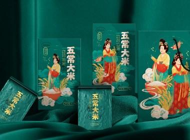 《稻花香》大米/農產品/食品包裝設計/品牌設計/插畫