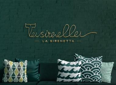 LA SIRENETTA意大利茶饮品牌形象设计|摩尼视觉原创