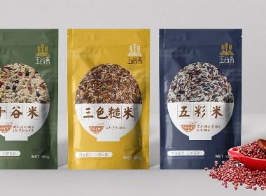 五谷斋农产品米包装设计|摩尼视觉原创