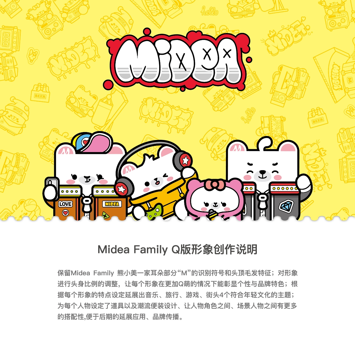 Midea Family Q版形象大变身