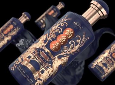 酱香型白酒品牌钓鱼台酒包装设计【黑马奔腾创意设计】