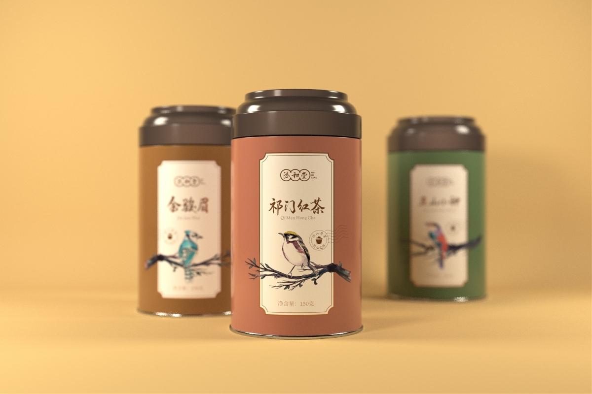 祁门红茶金骏眉正山小种罐装设计 · 沐和堂   刘益铭 原创作品