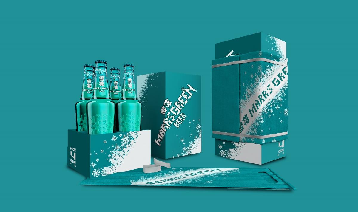 雪花马尔斯绿礼品盒