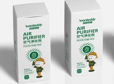 奇萌泰迪清新剂包装设计--知和包装设计公司