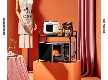 厨房置物架,厨房用品家用大全拍摄,厨房收纳架拍摄,小电器拍摄,收纳柜拍摄,厨房用品摄影