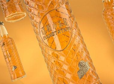 碳酸汽水饮料瓶设计:玻璃汽水瓶产品设计【黑马奔腾设计出品】