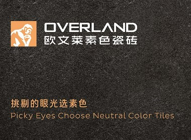 OVERLAND欧文莱素色瓷砖logo,vi形象设计