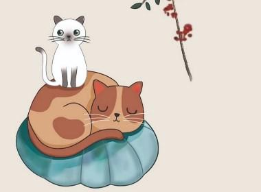 小国画————————猫