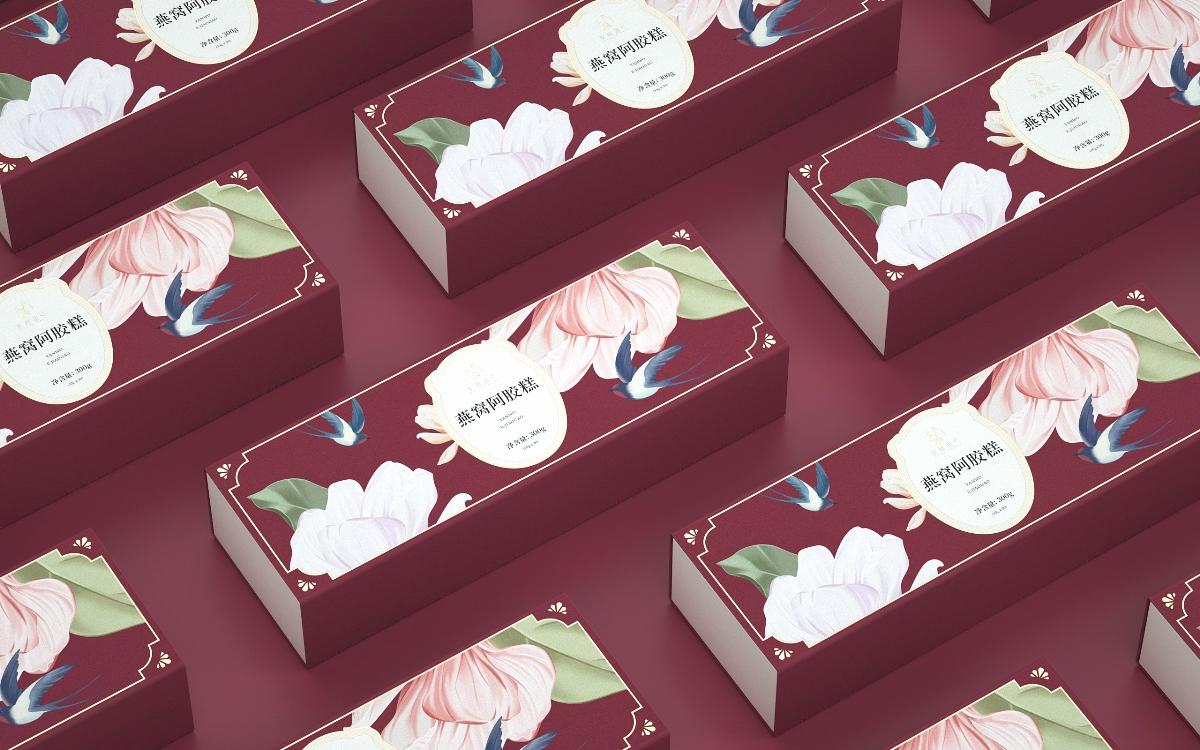 《燕窝阿胶糕》品牌包装设计 阿胶燕窝包装 食品包装