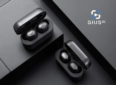 科技品牌蓝色耳机智能LOGO标志字体形象VI设计