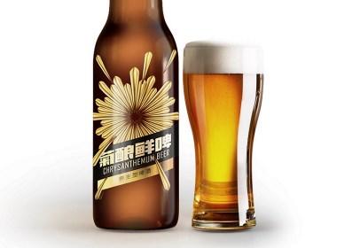 菊酿鲜啤啤酒包装设计